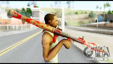 Rocket Launcher with Blood para GTA San Andreas terceira tela