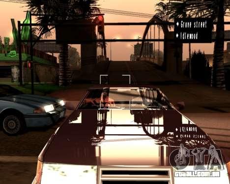 Artificial ENB para baixa de PC para GTA San Andreas por diante tela