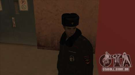 A polícia da Rússia - inverno formulário para GTA San Andreas quinto tela