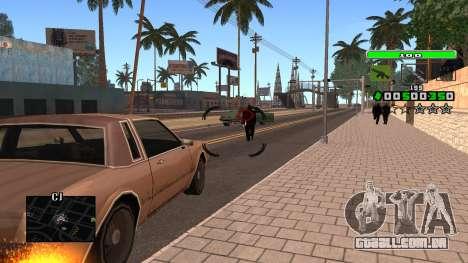 Light Green C-HUD para GTA San Andreas por diante tela