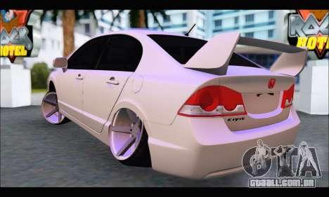 Honda Civic Korea Style para GTA San Andreas traseira esquerda vista