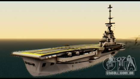 Colossus Aircraft Carrier para GTA San Andreas esquerda vista