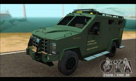 Lenco Bearcat SANG MedEvac 2009 para GTA San Andreas