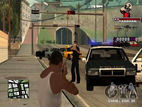 C-HUD SWAG para GTA San Andreas quinto tela