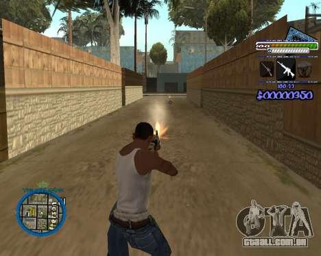 C-HUD by Rifa para GTA San Andreas por diante tela