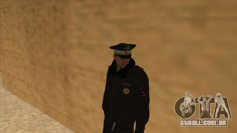 A polícia da Rússia - inverno formulário para GTA San Andreas décimo tela