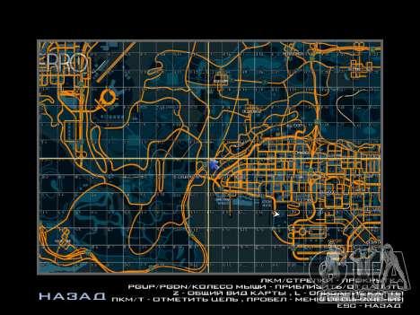 Mapa com setores no estilo de corrida para GTA San Andreas segunda tela