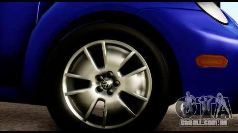 Volkswagen New Beetle para GTA San Andreas vista direita