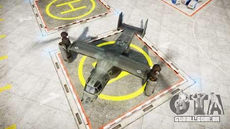 Bell CV-22 Osprey [EPM] para GTA 4 traseira esquerda vista