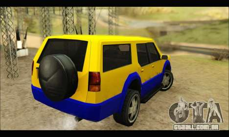 New Landstalker para GTA San Andreas traseira esquerda vista