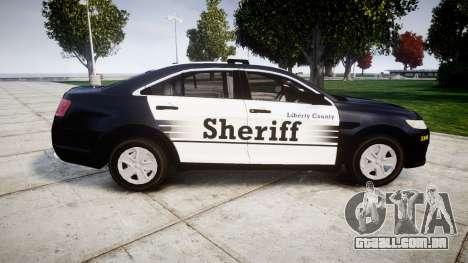 Ford Taurus 2014 Sheriff [ELS] para GTA 4 esquerda vista