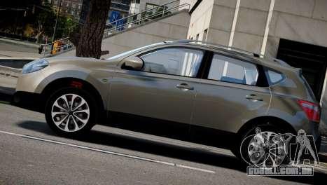 Nissan Qashqai 2011 para GTA 4 vista de volta