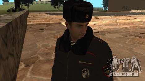 A polícia da Rússia - inverno formulário para GTA San Andreas sexta tela