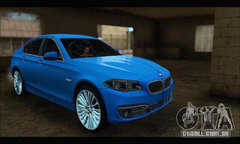 BMW 5 series F10 2014 para GTA San Andreas