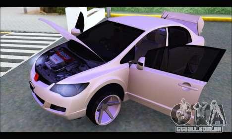 Honda Civic Korea Style para GTA San Andreas vista direita