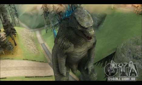Godzilla 2014 para GTA San Andreas terceira tela
