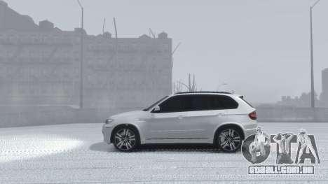 BMW X5M 2011 para GTA 4 vista de volta