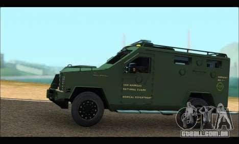 Lenco Bearcat SANG MedEvac 2009 para GTA San Andreas esquerda vista