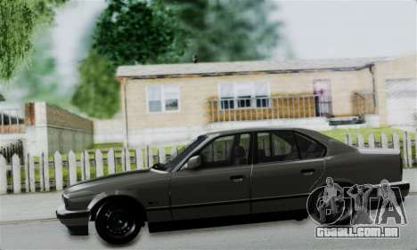 BMW 525 E34 Rims para GTA San Andreas vista traseira