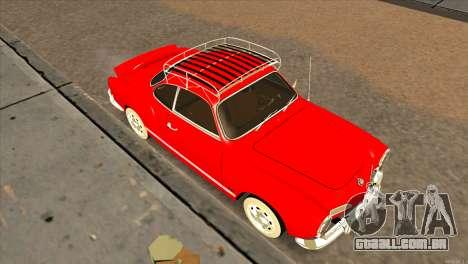 Volkswagen Karmann Ghia para GTA San Andreas vista direita