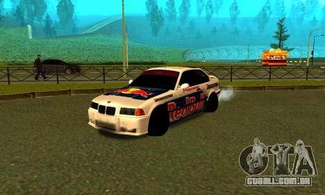 BMW M3 E36 RedBull para GTA San Andreas esquerda vista