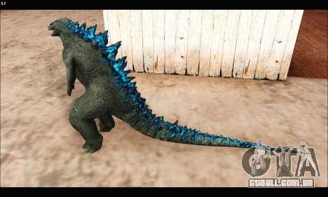 Babyzilla 2014 (Godzilla) para GTA San Andreas terceira tela