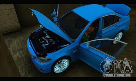 BMW 5 series F10 2014 para GTA San Andreas vista direita