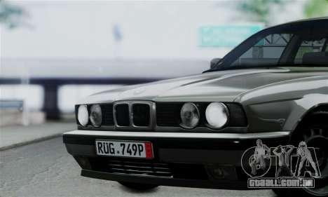 BMW 525 E34 Rims para GTA San Andreas vista direita