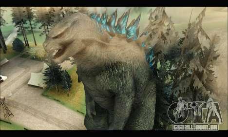 Godzilla 2014 para GTA San Andreas segunda tela