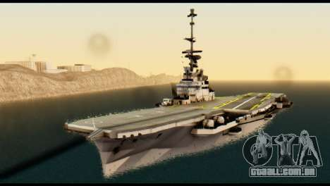 Colossus Aircraft Carrier para GTA San Andreas vista direita