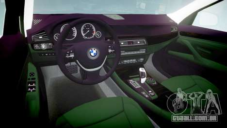 BMW 525d F11 2014 Facelift Civilian para GTA 4 vista interior