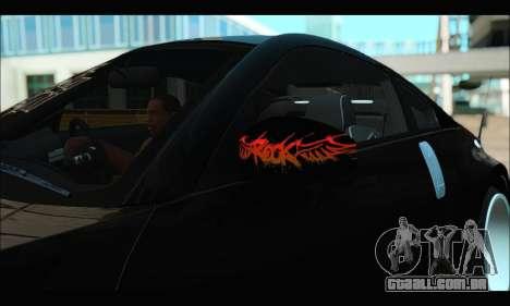 Nissan 350Z Rock para GTA San Andreas vista traseira