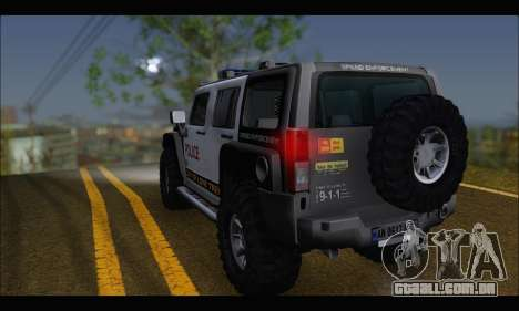 Hummer H3 Police para GTA San Andreas esquerda vista