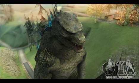 Godzilla 2014 para GTA San Andreas por diante tela