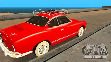 Volkswagen Karmann Ghia para GTA San Andreas traseira esquerda vista