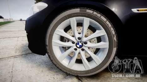 BMW 525d F11 2014 Facelift Civilian para GTA 4 vista de volta