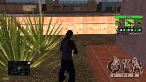 Light Green C-HUD para GTA San Andreas segunda tela