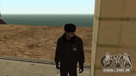 A polícia da Rússia - inverno formulário para GTA San Andreas segunda tela