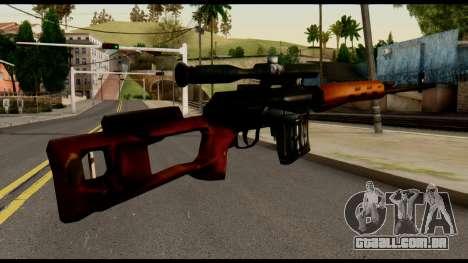 SVD from Metal Gear Solid para GTA San Andreas segunda tela