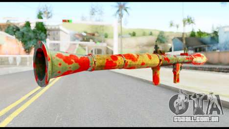 Rocket Launcher with Blood para GTA San Andreas segunda tela