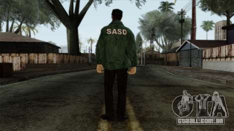 Police Skin 1 para GTA San Andreas segunda tela