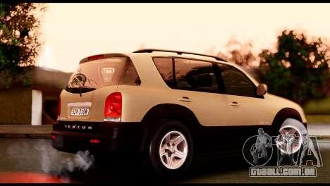 SsangYong Rexton 2005 para GTA San Andreas esquerda vista