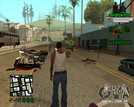 C-HUD for Groove para GTA San Andreas terceira tela