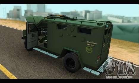 Lenco Bearcat SANG MedEvac 2009 para GTA San Andreas vista direita