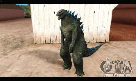 Babyzilla 2014 (Godzilla) para GTA San Andreas segunda tela