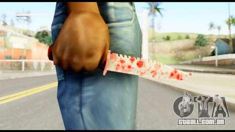 Knife with Blood para GTA San Andreas terceira tela