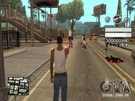 C-HUD Gray para GTA San Andreas por diante tela
