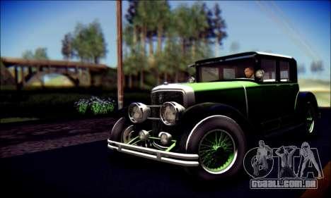 Albany Roosevelt (GTA V) para GTA San Andreas traseira esquerda vista