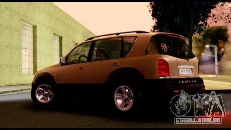 SsangYong Rexton 2005 para GTA San Andreas traseira esquerda vista