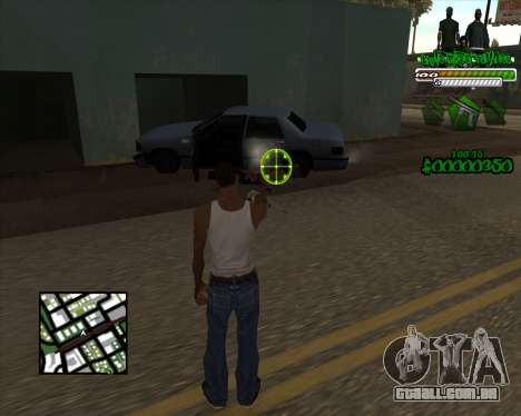 C-HUD for Groove para GTA San Andreas segunda tela